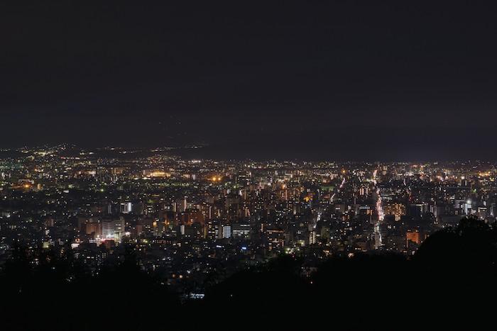 将軍塚からの夜景3